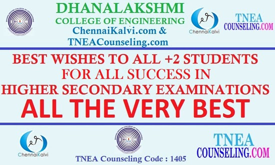 All the best to +2 Students for Examinations