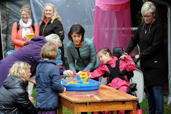 Princess Marie of Denmark attended the Special Schools Sports Day (Specialskolernes Idrætsdag 2015) held at the Aabenraa Stadium