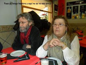 Arroz con amigos en febrero del 2012