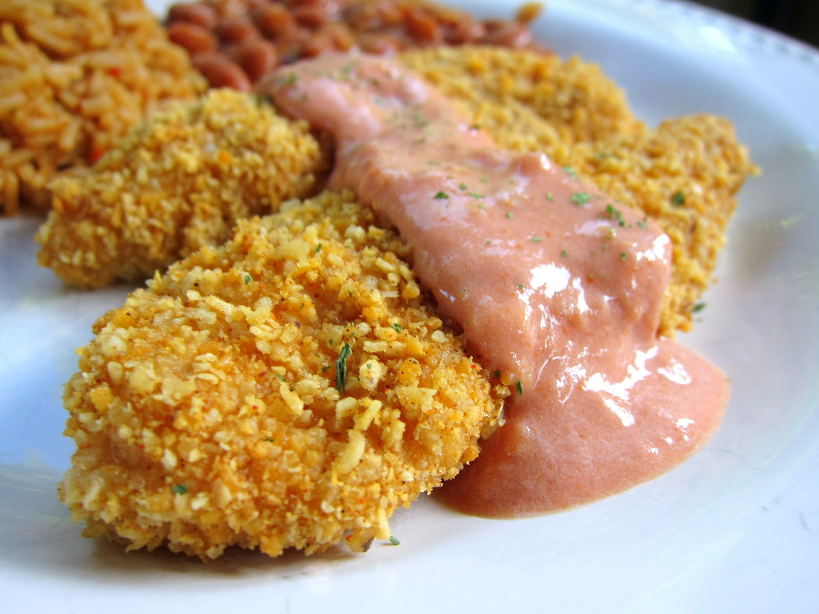 Taco Crusted Chicken Fingers - baked chicken tenders coated in taco ...