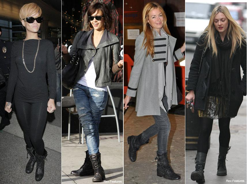 Celebs wearing the Military Madness trend