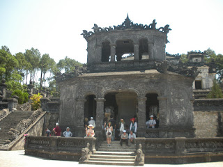 Pavilion in the grave stelae Khai Dinh Hue Imperial