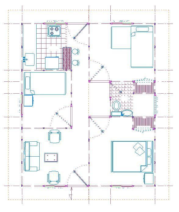 Planos de casas modelos y dise os de casas planos de Planos de casas 2 recamaras