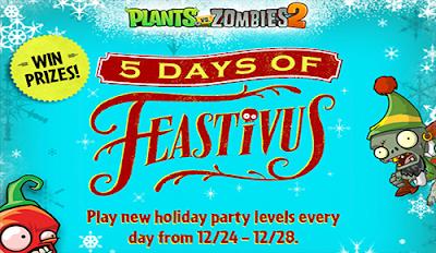 5 días de celebración con Plants vs Zombies 2