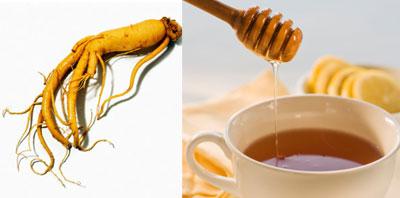 Bài thuốc trị bệnh từ nhân sâm và mật ong