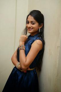 Priyanka Picture Gallery in Silk Short Dress at Taravata Katha Movie Trailer Launch