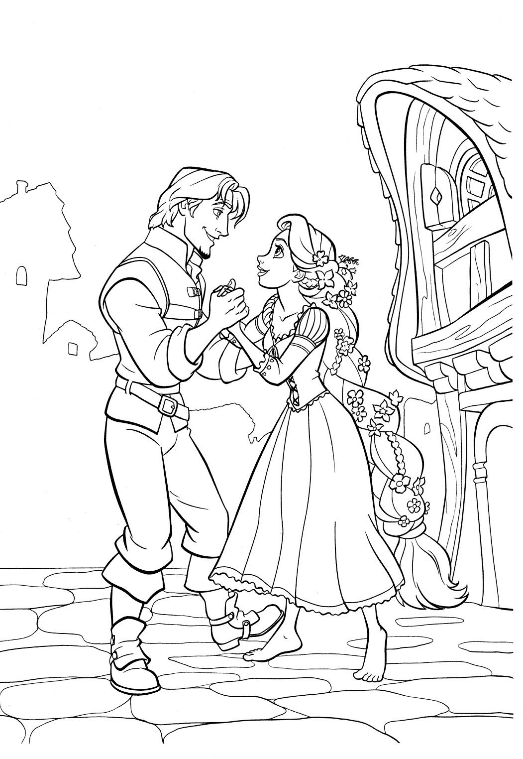 Desenho da linda RAPUNZEL para colorir Hello Kids - imagens para colorir da rapunzel