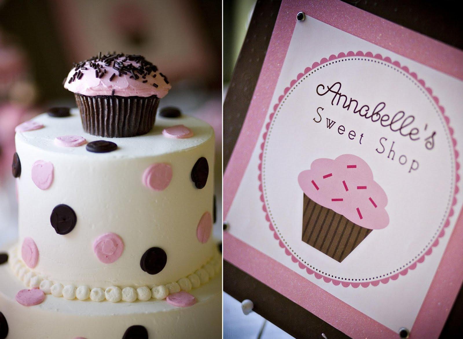 Cupcake Theme Decorations