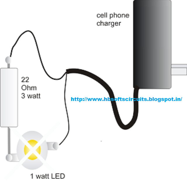 Making A Powerful 1 Watt Led Driver Using A Cell Phone Charger