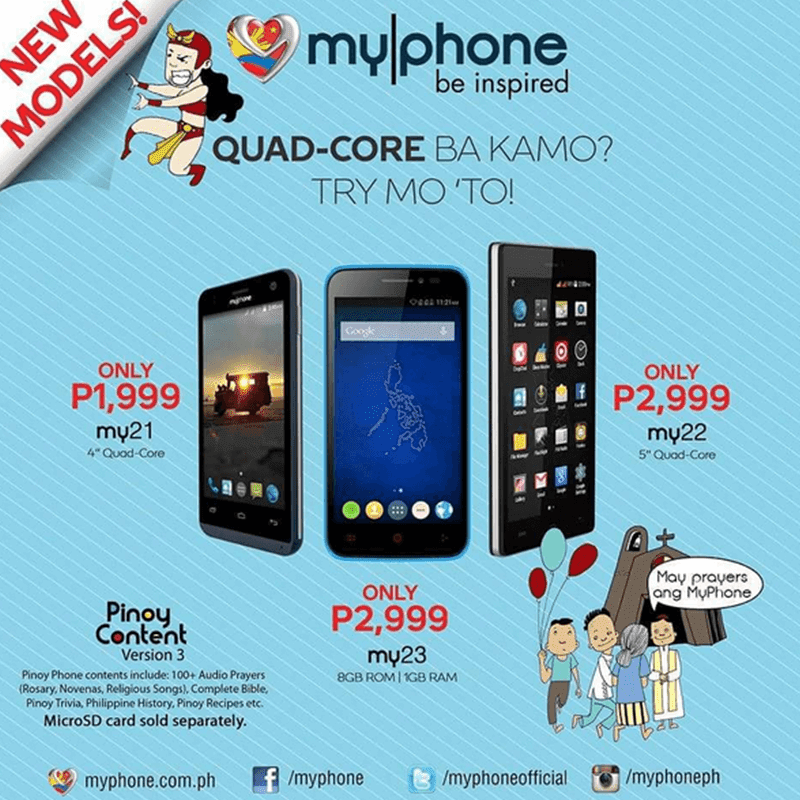 MYPHONE MY23 ANNOUNCED! 5 INCH QUAD CORE FOR 2,999 PESOS!