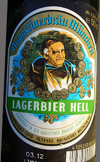 german beer Augustinerbräu München, Lagerbier Hell