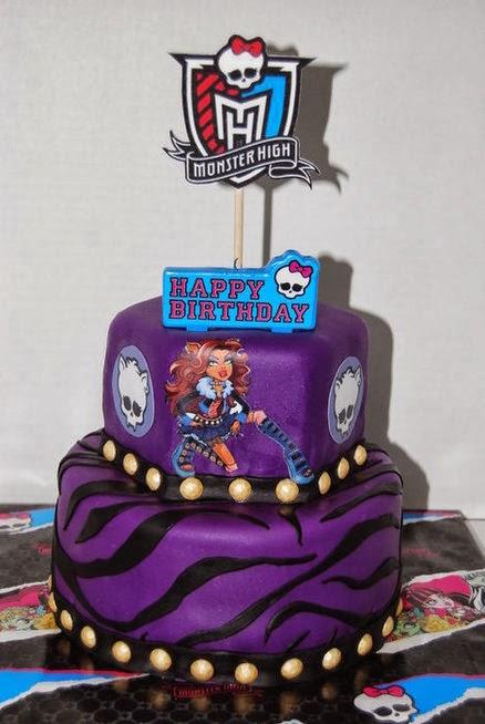 MuyAmeno.com: Tortas Monster High, Clawdeen Wolf, parte 1
