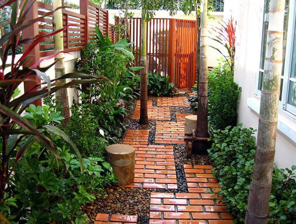 Hogares frescos 35 rutas preciosas para una casa con for Jardin chico casa