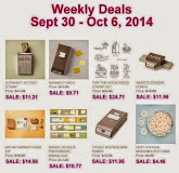Items on Sale!  Sept 30 to Oct 6