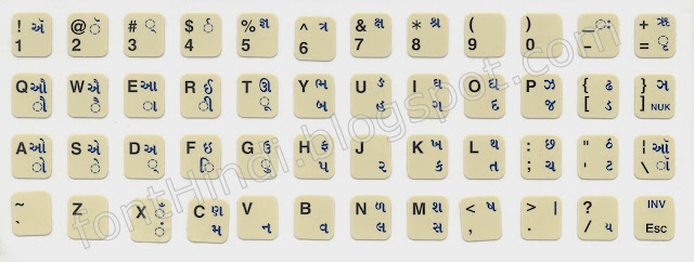 INscript Keyboard Layout for Gujrati