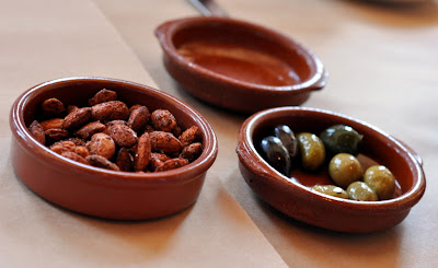 Seasoned and Toasted Almonds and Mediterranean Olives - Photo by Taste As You Go