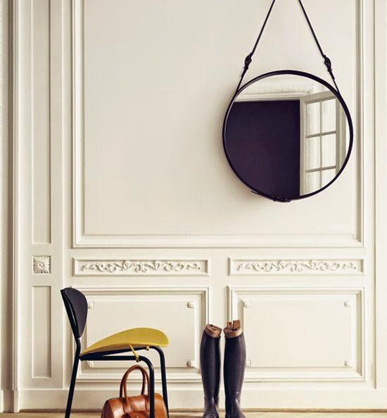 Otthon és dekor: Tükör bőrövvel