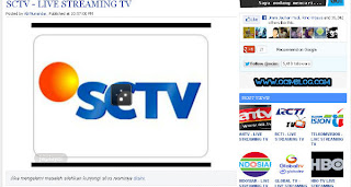Cara Nonton SCTV Online Streaming di Internet