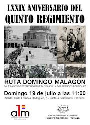 Ruta Domingo Malagón: Homenaje al Quinto Regimiento