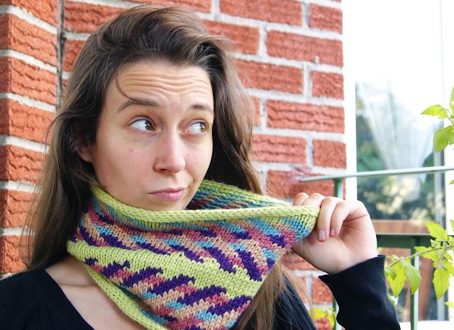 tricot col fléchée