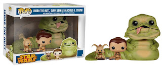Funko Pop!  Jabba the Hutt, Leia exclava & Salacious