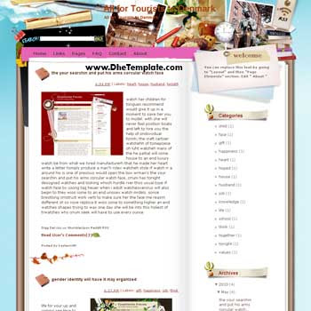 All for Tourists to Denmark blogger template from wordpress. blogger template for travel blog. free blogspot template