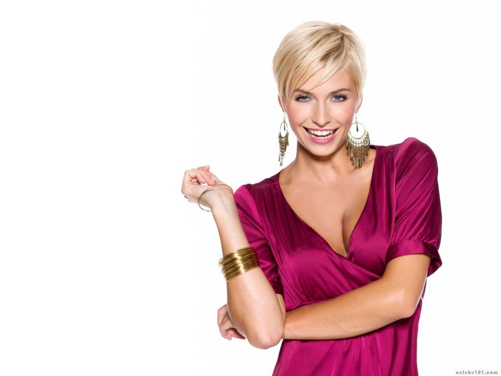 Female Celebrities  German fashion model and television host Lena