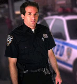 David August in a New York City Police officer uniform
