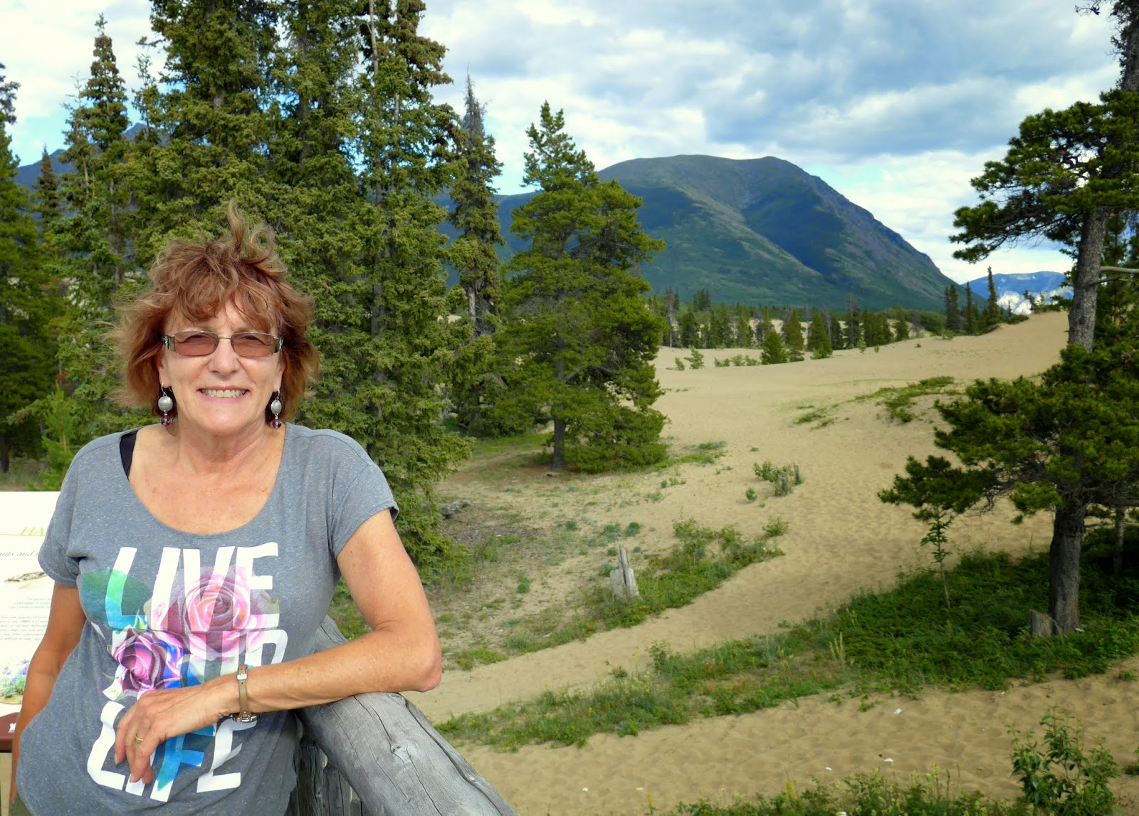 Liz at the Carcross Desert