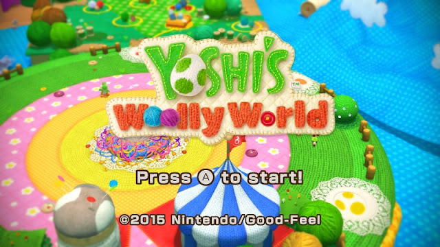 Yoshi's Woolly World title screen