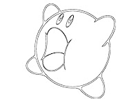 #9 Kirby Coloring Page