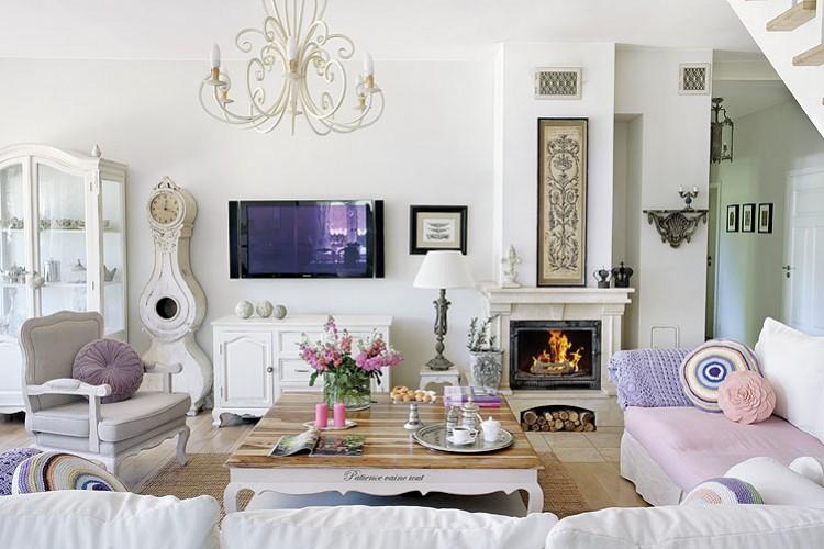 Relasé: Come arredare il soggiorno in stile shabby chic ...