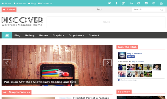 Discover-Responsive-Blogger-Template