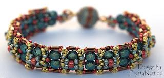 """Free Beading Tutorial for Bracelet """"Oriental"""" by PrettyNett.de"""
