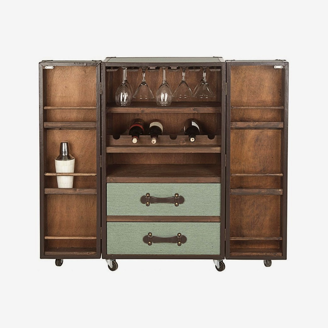 Nag on the Lake: Steamer Trunk Bar Cabinet