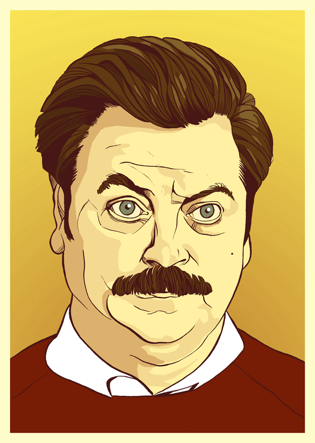Parks and Rec Ron Swanson art