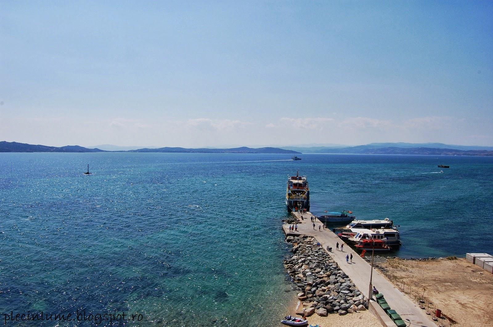 Marea vazuta din Turnul din Ouranoupolis