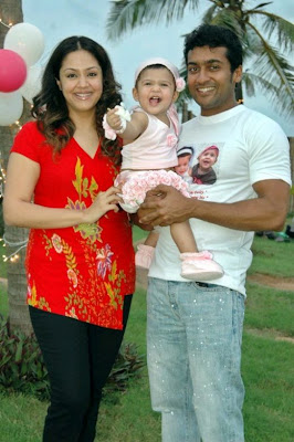 kollywood couple jyothika surya baby