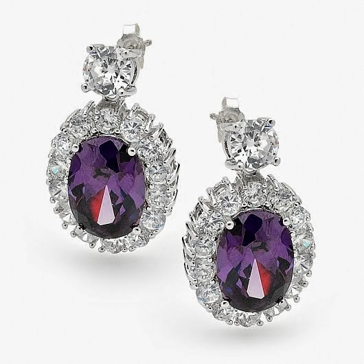 Lovely Purple Bridal Earring