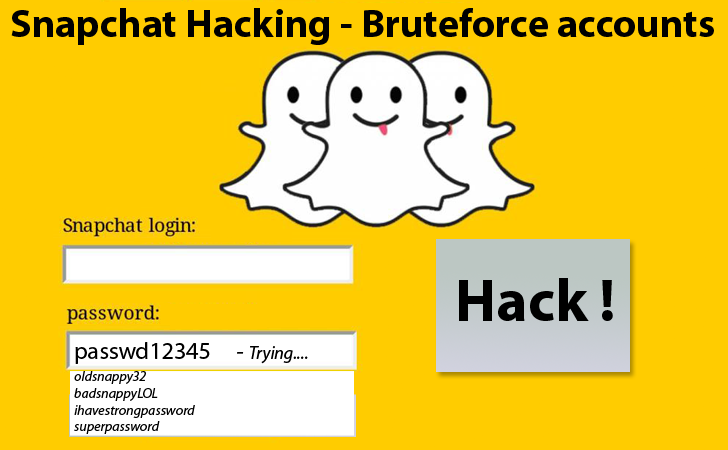 Snapchat Hacking user accounts vulnerable to Brute-Force Attack