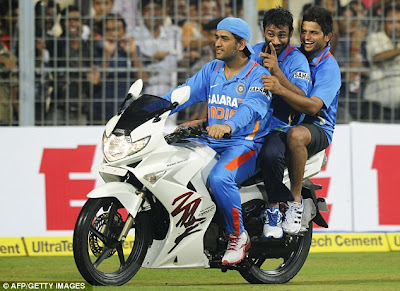 Dhoni the biker dude