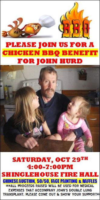 10-29 Chicken BBQ Benefit For John Hurd