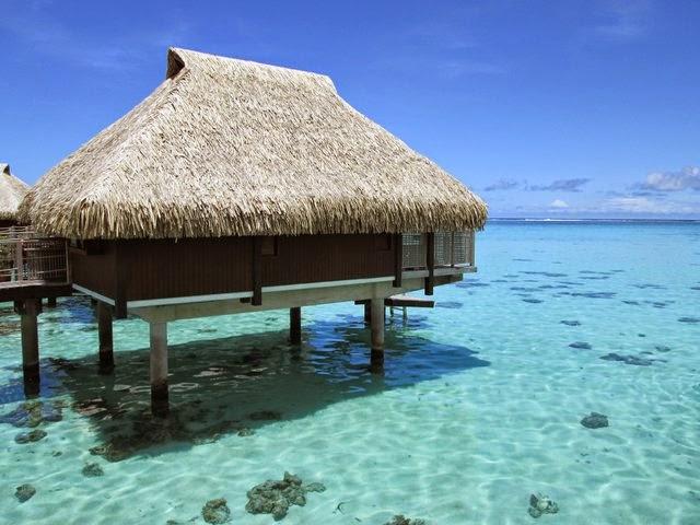 Bungalow sur pilotis du Hilton Moorea Lagoon Resort & Spa