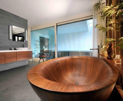 bañera madera