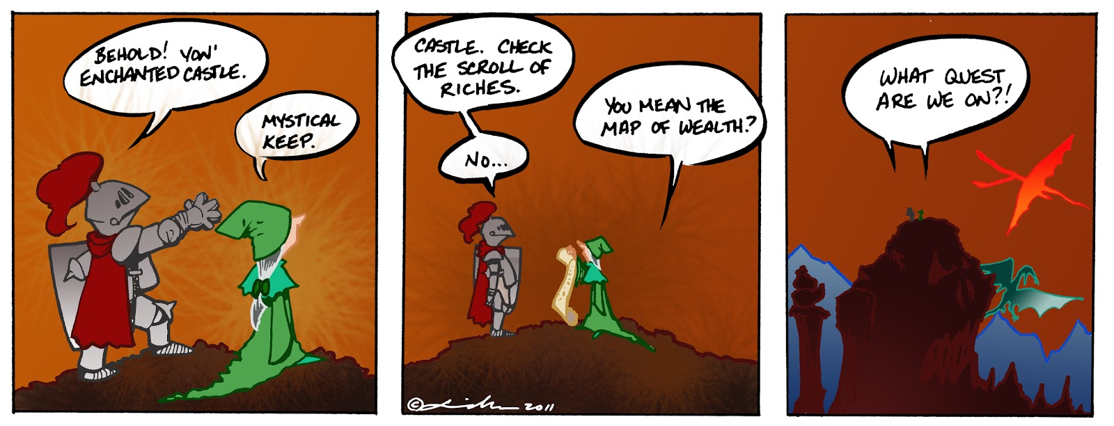 Dungeon and dragons cartoon strip