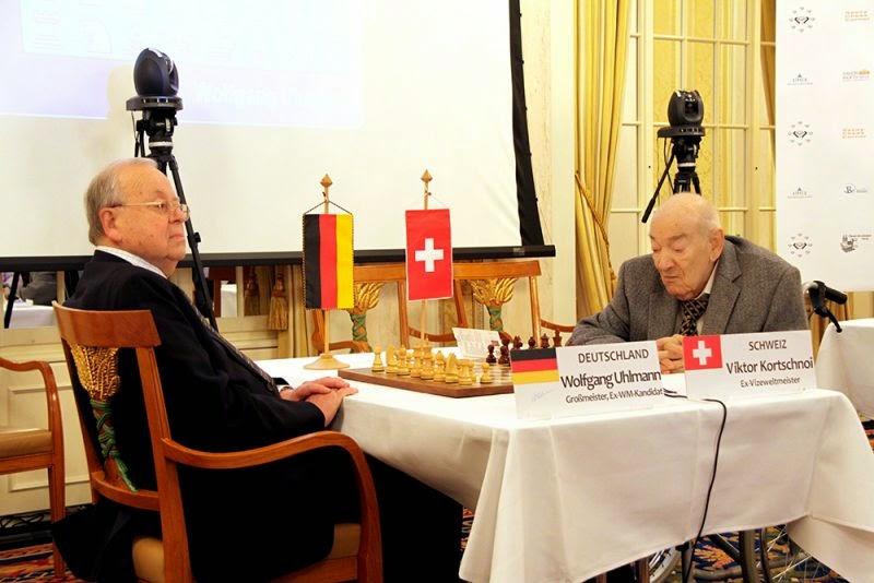 Victor Korchnoi y Wolfgang Uhlmann - Zurich Chess Challenge