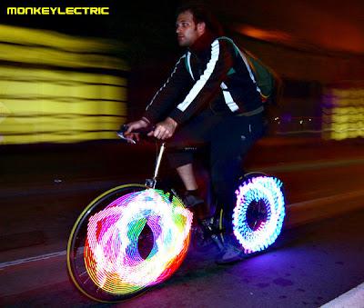 bicicleta led creativo
