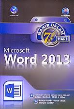 toko buku rahma: buku MICROSOFT WORD 2013, pengarang madcoms, penerbit andi