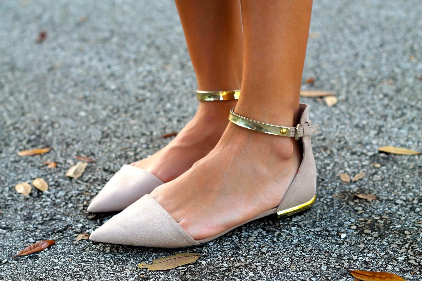 Zara Ankle Strap Flats