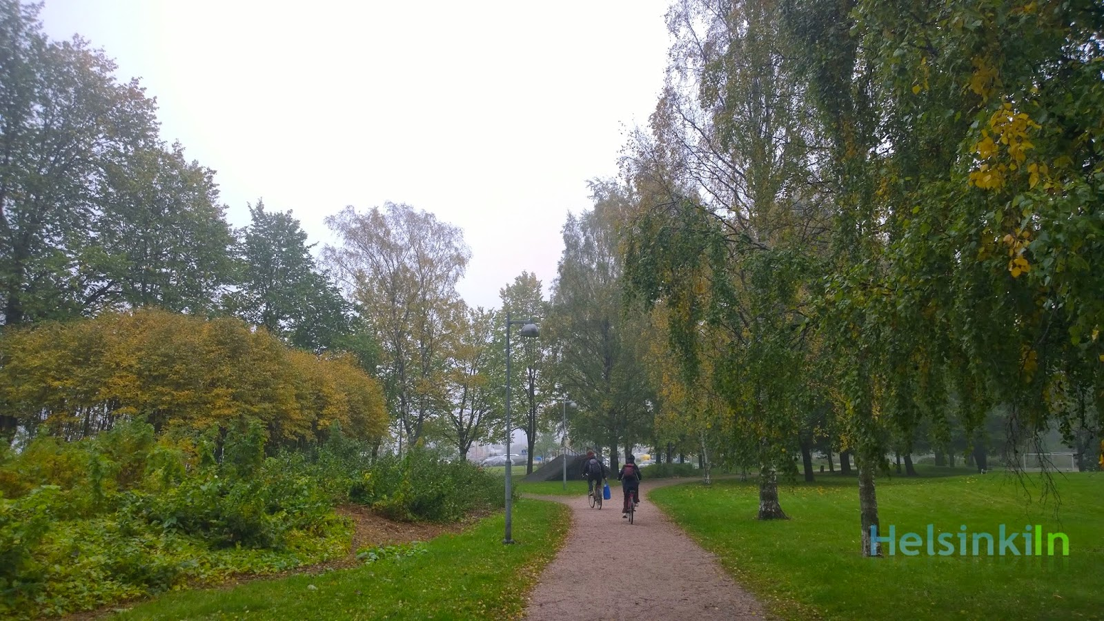 misty and cloudy day in Lauttasaari